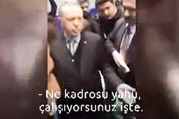 VİDEO | Erdoğan: Ne kadrosu yahu, çalışıyorsunuz işte!