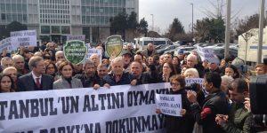 CHP'den İBB önünde 'Maçka Parkı' eylemi