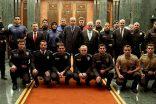Polisler yeni üniformalarıyla Saray'da