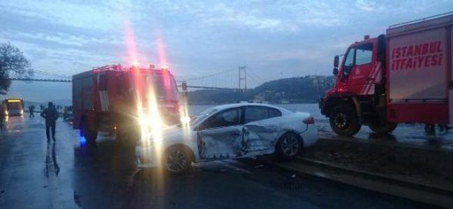 Rumeli Hisarı'nda trafik kazası: 4 yaralı
