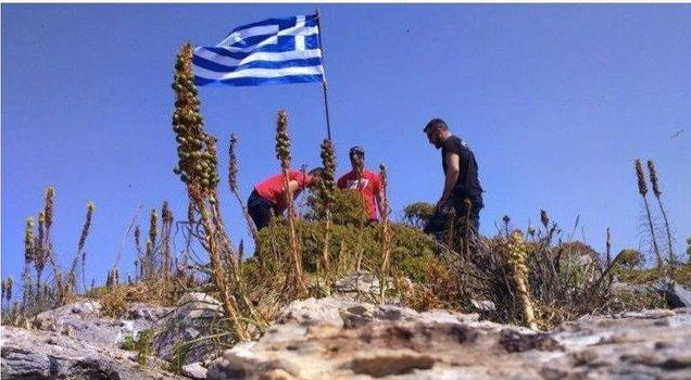 Ege'de Yunanistan provokasyonundan ilk görüntü.