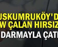 Uskumruköy'de BMW çalan hırsızlar, Eyüp'te jandarmayla çatıştı