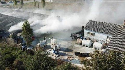 İstanbul'da fabrikada patlama.