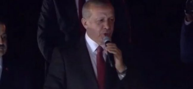 AKP Erdoğan'ın söylemlerini tartışıyor.