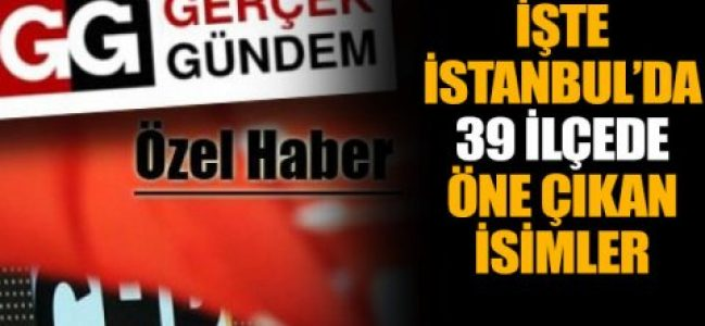 CHP İstanbul'da kimler yarışacak?