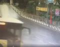 Kuruçeşme'de İETT otobüsünün kaza anı kamerada