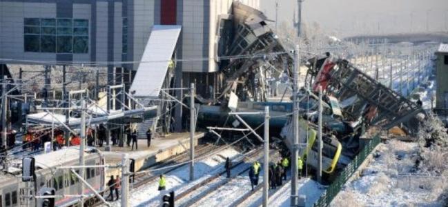 Ankara'da yüksek hızlı tren kazası: 9 ölü 47 yaralı.