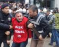 İzmir'de işçilere polis müdahalesi.