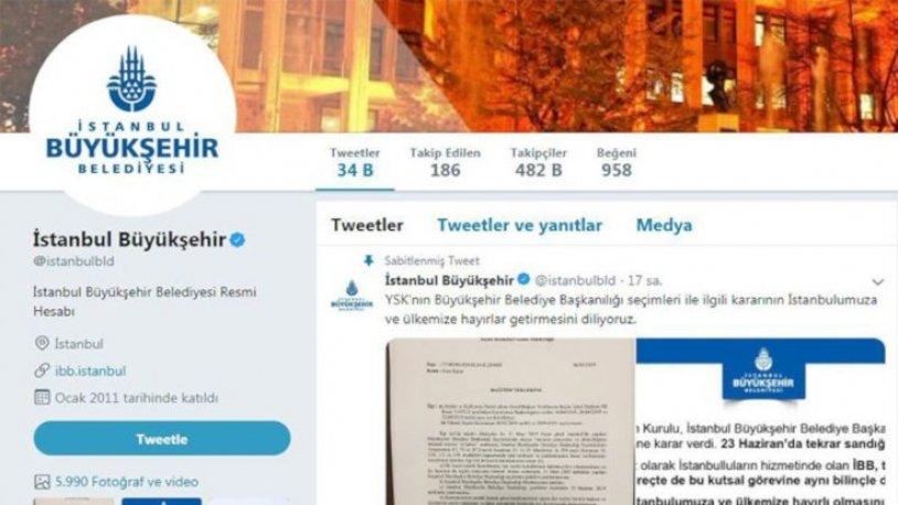 İBB Twitter hesabı, YSK kararı sonrası on binlerce takipçi kaybetti