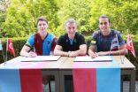 Trazonspor'da Campi ve Erce için imza töreni.