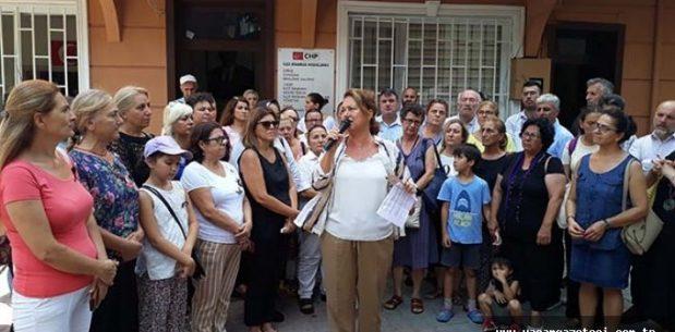 Kadın cinayetlerini protesto ettiler.
