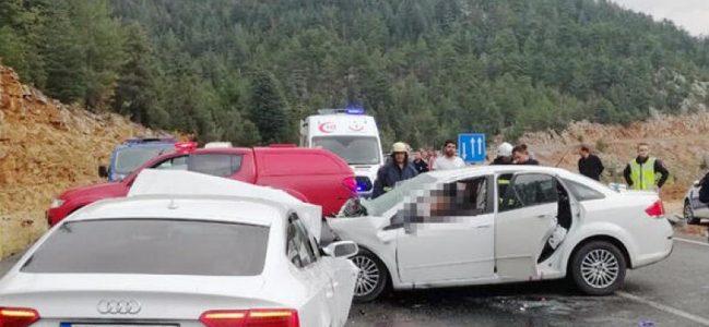Antalya – Konya yolunda ölümlü feci kaza.