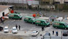 İstanbul'da ürküten Cenaze araçları fotoğrafı.