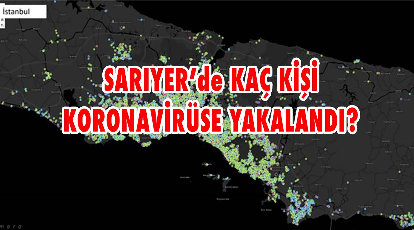 Sarıyer'de kaç kişi koronavirüs'e yakalandı?