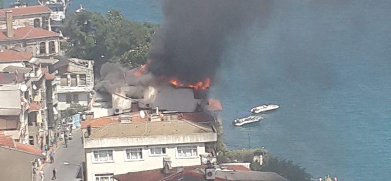 Sarıyer Yeni mahallede korkutan yangın!