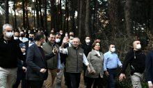 Kılıçdaroğlu ve İmamoğlu, Atatürk Kent Ormanı'nı gezdi