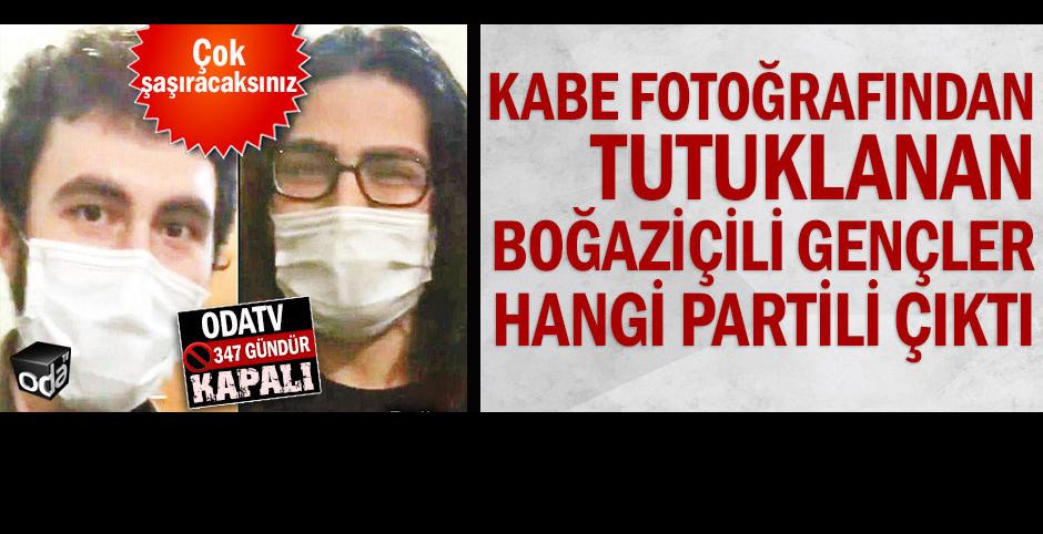 Kadın kolu başkanının oğlu Kabe resminden tutuklu!