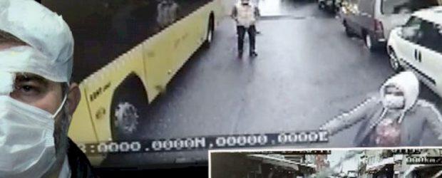 Sarıyer'de İETT şoförüne mermerli saldırı