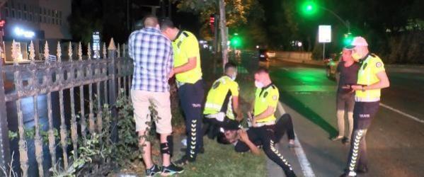 Maslak'ta sürücü ile polis arasında kovalamaca